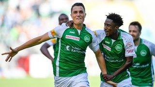 Vincent Sierro a réalisé un doublé face à Lugano, deux goals du pied gauche