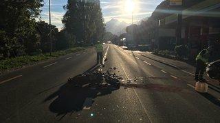 Sion: un motard de 22 ans grièvement blessé lors d'une collision avec une auto