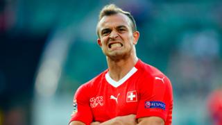 Football: pour sa première titularisation, Shaqiri marque des points
