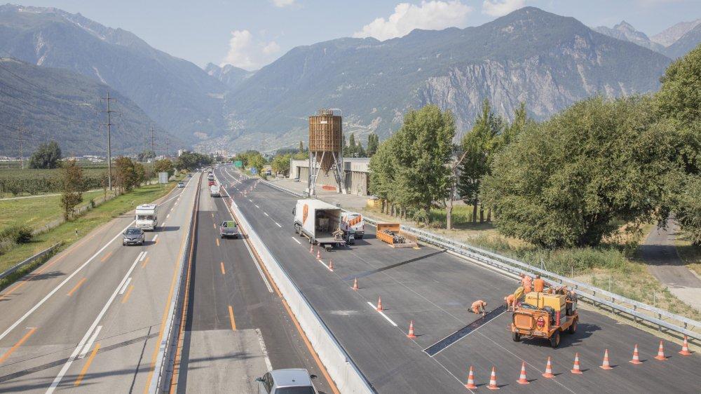 La première phase du chantier «A9 Martigny et environs» s'est achevée.