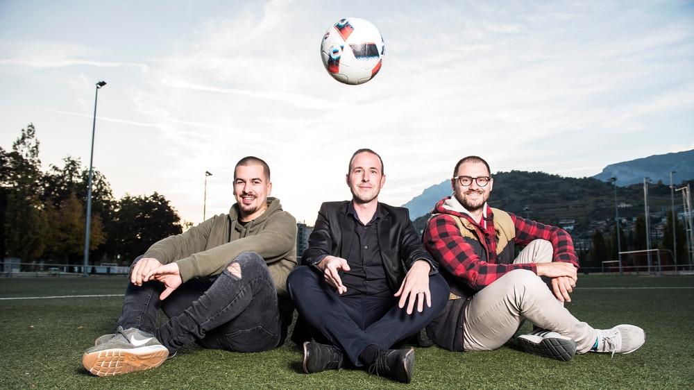 Kevin Neurohr (Grimisuat), Nicolas Marazzi (Prinste-Nendaz) et Gilles Levrand (Hérens) ont découvert les joies du foot régional.