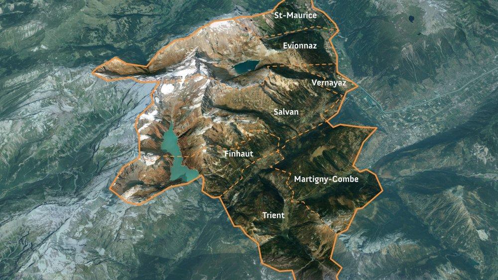 Le parc naturel régional s'étendrait sur une superficie de 222 km2, englobant sept communes.