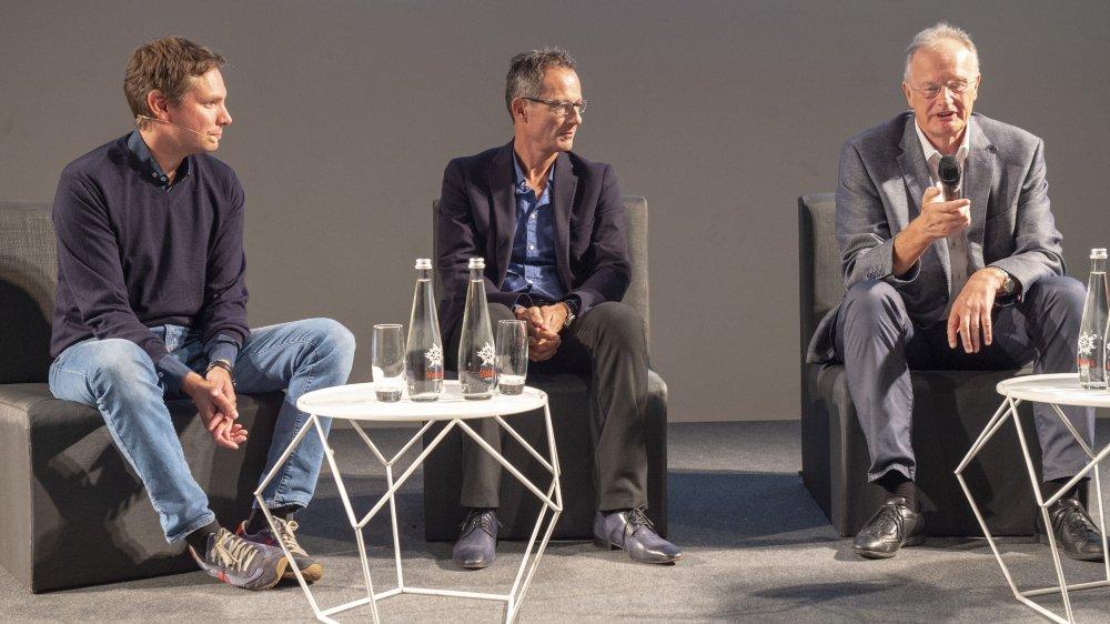Le débat a été nourri par Gilles Florey de Keylemon, Hubert Lorenz de Mimotec et Jean-Paul In-Albon de Eversys.