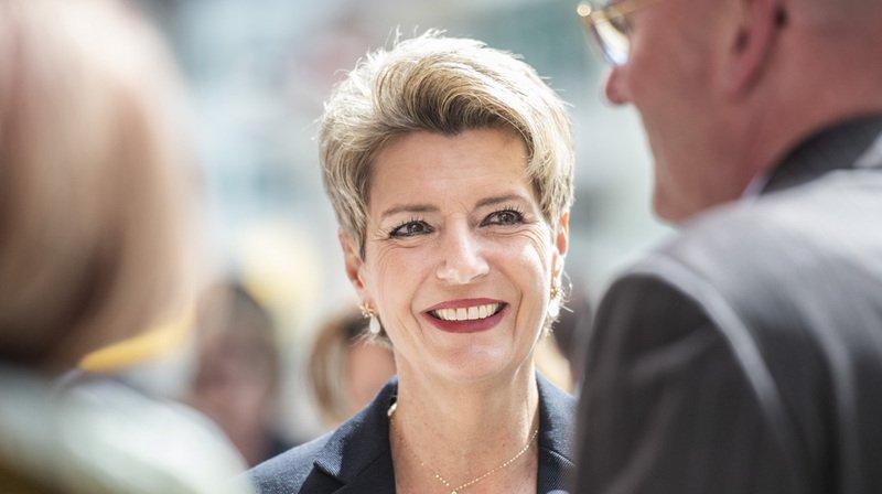 Conseil fédéral: Karin Keller-Sutter, favorite pour la succession Schneider-Ammann, convoque la presse