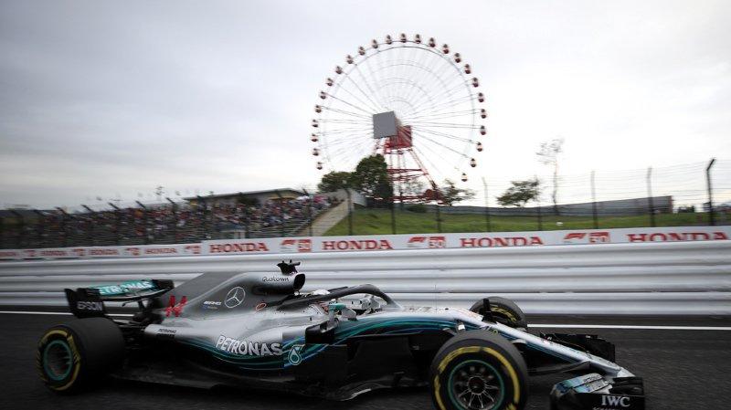 Formule 1 - GP du Japon: le Britannique Lewis Hamilton décroche la 80e pole position de sa carrière