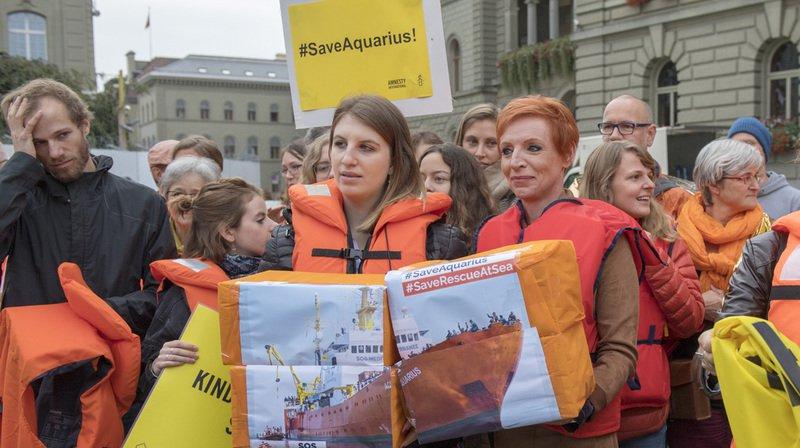 Sauvetage en mer: 25'000 signatures pour donner un pavillon suisse au navire humanitaire l'Aquarius
