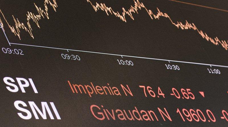 Bourse: la chute de Wall Street se répercute en Suisse, le SMI ouvre en net repli