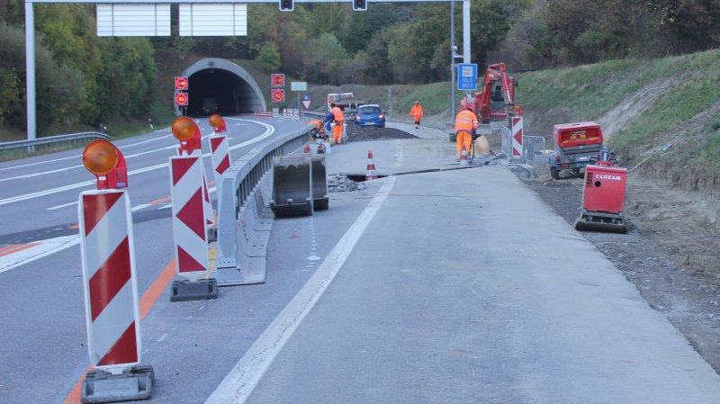 Différentes fermetures nocturnes de l'A21 à hauteur de Martigny sont prévues durant le mois d'octobre.