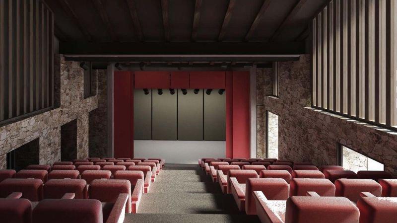 Les fonds récoltés permettent de créer une nouvelle salle de spectacle. Ici, son projet architectural.