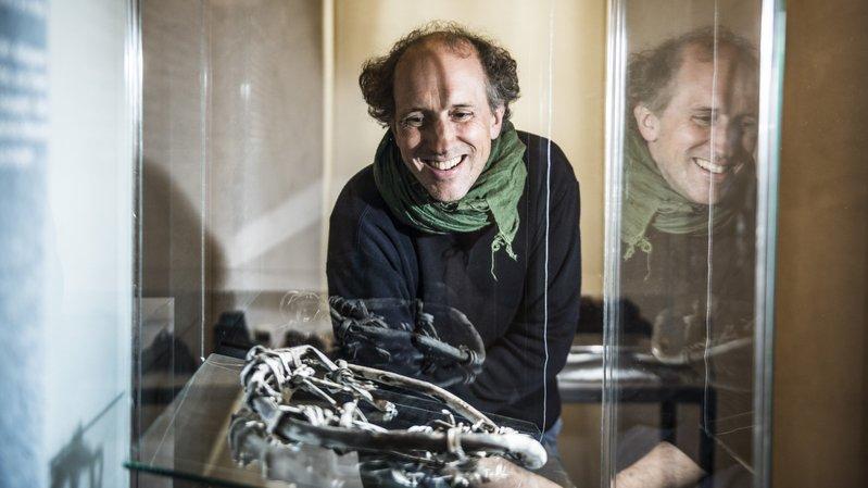 Pierre-Yves Nicod, conservateur et commissaire de  «Mémoire de glace : vestiges en péril», la nouvelle exposition du Musée d'histoire du Valais qui ouvre ses portes ce samedi 6 octobre.