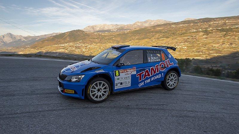 Olivier Burri a signé six des neuf meilleurs temps lors de la première journée du Rallye international du Valais.