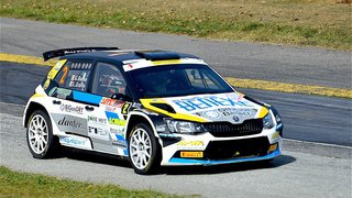 L'Italien Giandomenico Basso vire en tête du Rallye international du Valais