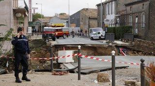 France: le bilan des inondations meurtrières dans l'Aude revu à 10 morts