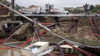 France: les inondations dans l'Aude on provoqué des dégâts de l'ordre de 230 millions de francs