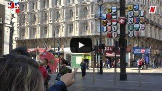 """Foire du Valais: le drapeau valaisan est-il le plus beau? Dernière enquête """"What the Foire"""" à Londres"""