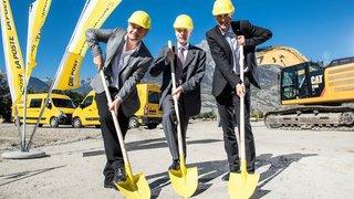 Vétroz: La Poste lance les travaux de son nouveau centre régional de tri de colis