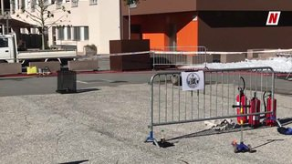 Saint-Léonard: démonstration d'une explosion de gaz par les pompiers lors de la journée sécurité de la commune