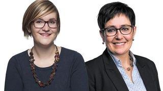 Sarah Constantin et Chantal Voeffray-Barras sont les nouvelles présidentes de Solidarités Femmes