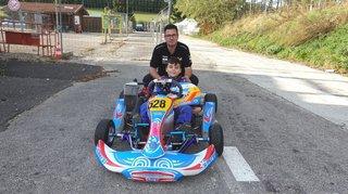 Le pilote de karting montheysan Gabriel Fernandez a tapé dans l'œil de Fernando Alonso