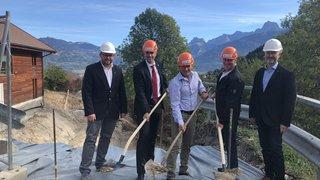 La Cavagne: début des travaux de la future cave d'affinage de la Vallée d'Illiez