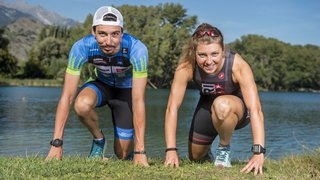 Loïc Guinchard et Joanna Ryter sont prêts pour la course de l'année en triathlon