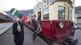 Un week-end rétro avec l'association Train nostalgique du Trient à la gare MC de Martigny