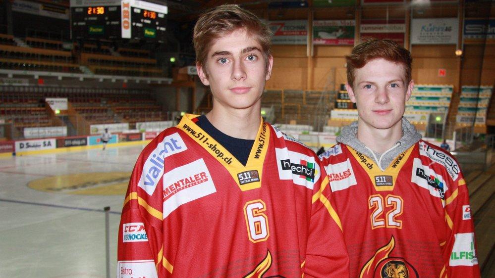 Benjamin Bonvin et Joël Salzgeber sont encore un peu jeunes pour être envoyés de temps à autre en MS League ou en Swiss League.