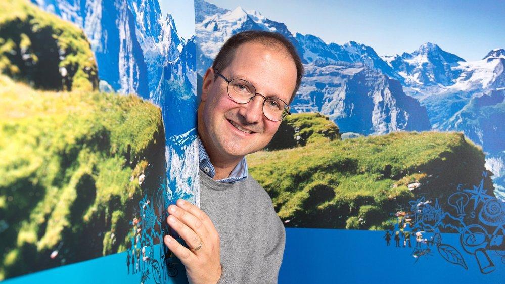 Emmanuel Reynard, directeur du nouveau CIRM basé sur le site sédunois de l'UNIL, à l'Institut universitaire Kurt Bösch de Bramois.