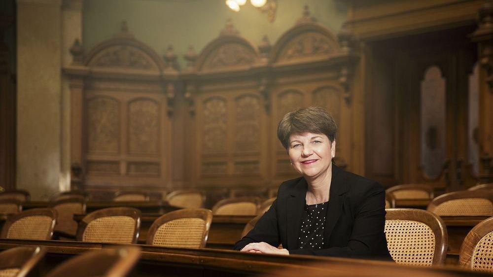 Viola Amherd, discrète mais efficace sous la Coupole fédérale.
