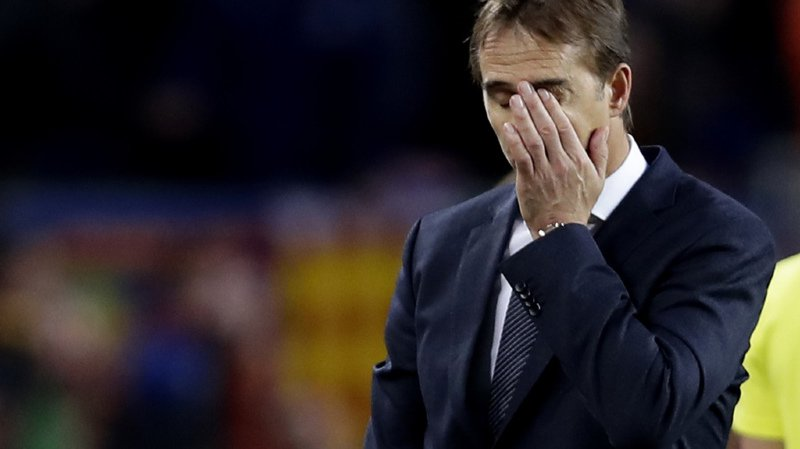 Football: l'entraîneur du Real Madrid Julen Lopetegui renvoyé