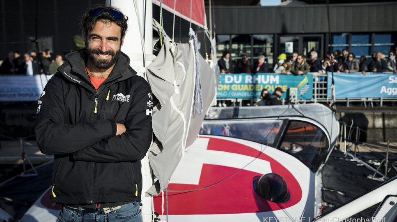 Route du Rhum: pour sa deuxième participation, le Genevois Alan Roura vise un Top 10