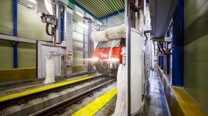 CFF à Brigue: halle de lavage extérieur des trains à 10 millions de francs inaugurée ce mardi