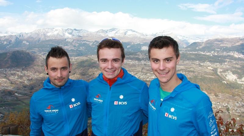 Tous trois présents à la Dérupe, Kilian Granger, Maximilien Drion et Maxime Trombert se réjouissent de retrouver la neige et leurs skis.