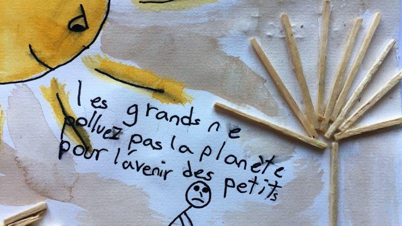 Record: des centaines de dessins d'enfants valaisans dénoncent le réchauffement climatique