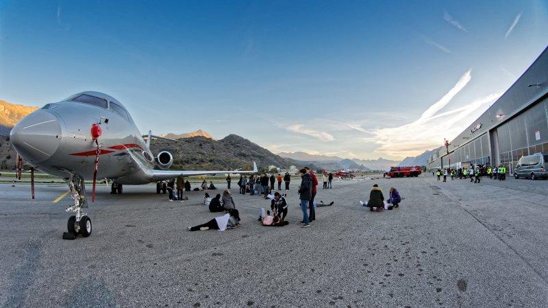 Une catastrophe aérienne simulée à l'aéroport de Sion