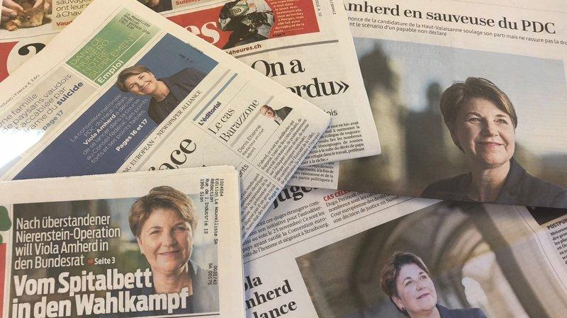 La presse croit aux chances de Viola Amherd