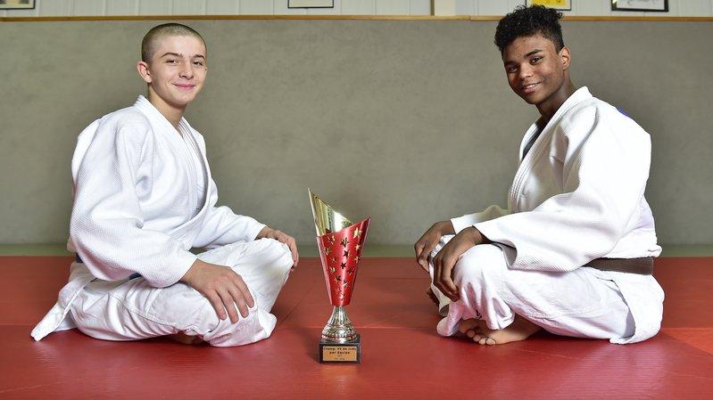 La voie semble royale pour les judokas valaisans Simon Maitin et Kurly Joris