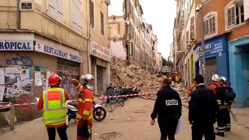 France: 2 immeubles s'effondrent au cœur de Marseille, 10 personnes sont portées disparues