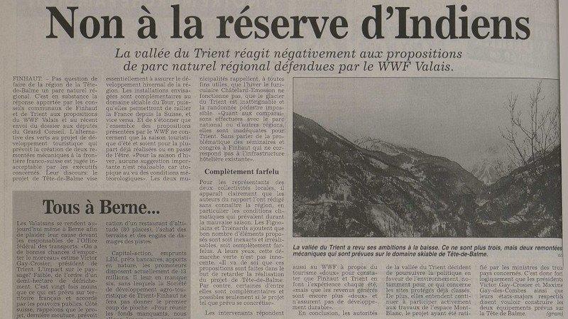 L'idée d'un parc naturel dans le Bas-Valais refait surface 22 ans après