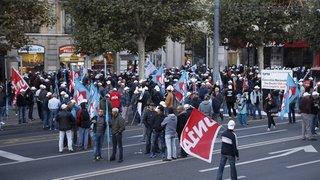 Manifestation des maçons: circulation perturbée à Sion mardi matin