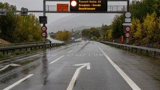 Intempéries: la pluie paralyse le col du Simplon