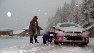 Intempéries: l'avis de prudence est maintenu, l'arrivée de la neige contribue à diminuer les risques