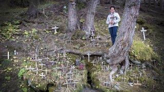 Lumière sur la fontaine des morts, un lieu secret au-dessus d'Hérémence