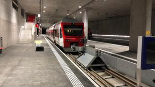 Bagnes: les trains circulent dans la nouvelle gare TMR