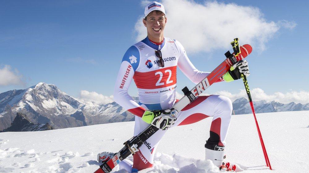 Saas-Fee, le 26 septembre 2016  Journée Swiss-Ski sur le glacier de l'Allalin. Ramon Zenhäusern  Sacha Bittel/Le Nouvelliste