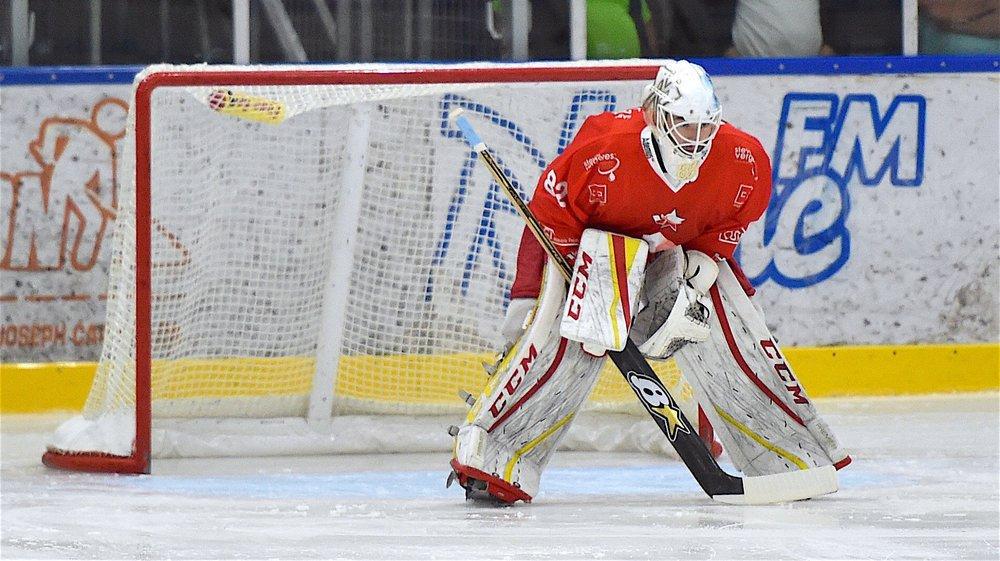 Maxime Baud a déjà disputé seize des dix-neufs matchs cette saison dans la cage de Valais-Chablais.