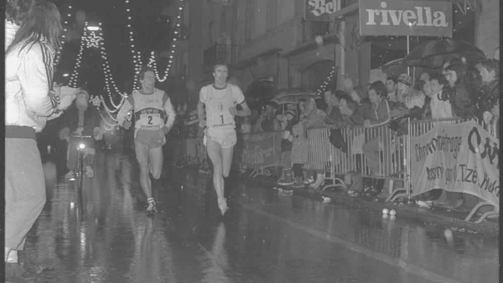 Pierre Délèze (1), à droite et Markus Ryffel (2) se sont souvent disputé la victoire dans les rues de Sion.