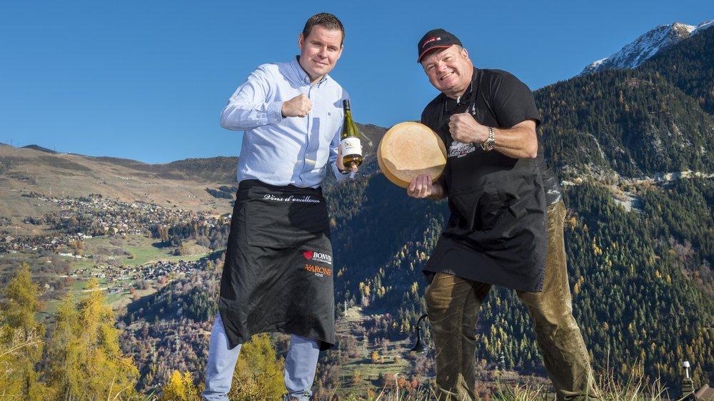 Eddy Baillifard et David Héritier vont représenter le Valais dans une «battle» pour défendre la raclette et le fendant.