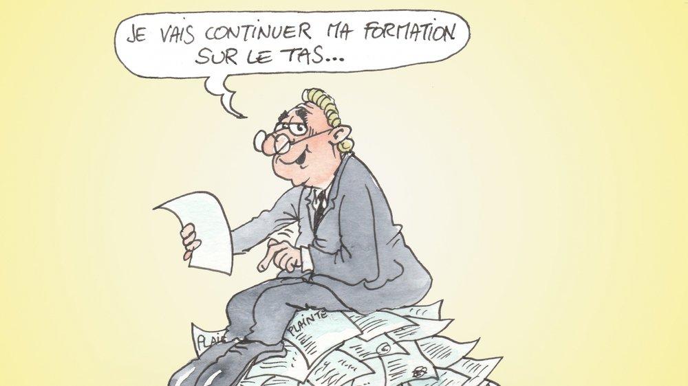 """Selon Geneviève Cheseaux, """"cette caricature de Casal représente parfaitement la situation des juges et vice-juges valaisans""""."""