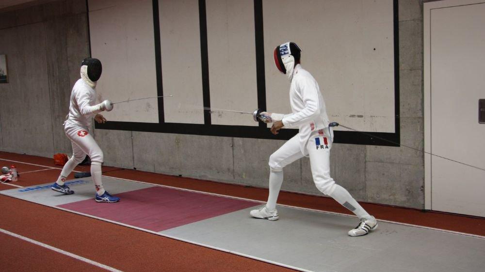 Lucas Malcotti (à gauche) en pleine action.